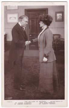 "George Alexander, Irene Vanbrugh ""The Builder Of Bridges"" Rotary 7445 A"