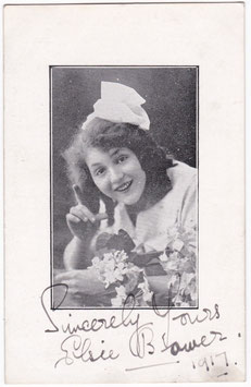 Elsie Bower. Comedienne. Dated 1917. Signed postcard