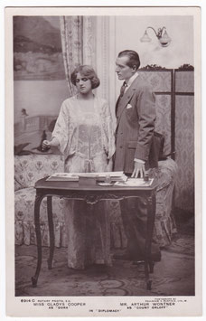 "Gladys Cooper and Arthur Wotner ""Diplomacy"" Rotary 6914 C"