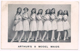 Arthur's 8 Model Maids. Richardson's Theatrical Series 4681