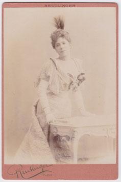 Jeanne Granier. Soprano. Reutlinger Cabinet photo