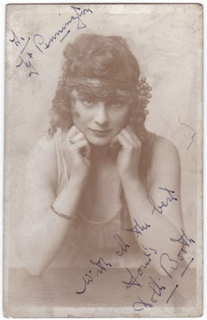 Dolli Booth. Dancer. Signed postcard