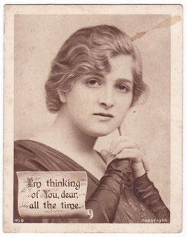 Gladys Cooper. Mini postcard. Red Letter No.9