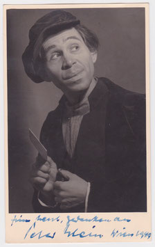 Peter Klein. Vienna 1949. Signed photograph