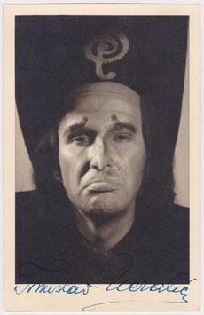 Tomislav Neralic. Bass baritone. Signed postcard. 1