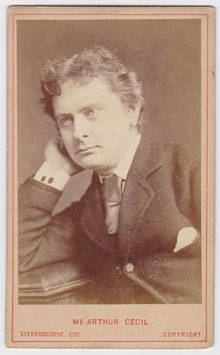Arthur Cecil. London Stereoscopic cdv