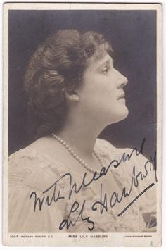 Lily Hanbury. Rotary 166 F. Signed postcard