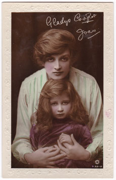 Gladys Cooper and daughter Joan. Rotary B 53-2