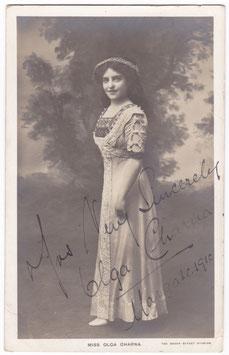 Olga Charna. Russian Soprano. Signed postcard