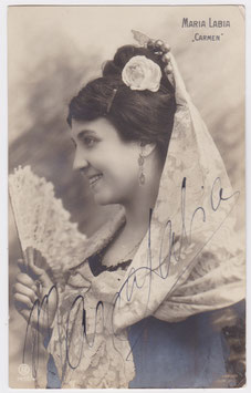 Maria Labia as Carmen. Signed postcard