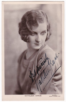 Kathleen Grace. Signed postcard