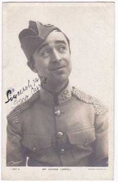 George Carroll. Rotary 1267 A. Signed postcard