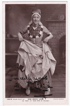 "Gracie Leigh ""Miss Hook Of Holland"" Rotary 1694 G. Signed postcard"