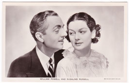 William Powell and Rosalind Russell. Film partners P 194