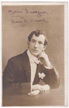 Bert C Duval. Actor. Signed postcard