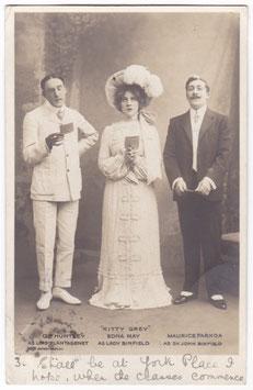 """Edna May. G P Huntley. Maurice Farkoa """"Kitty Grey"""" Rotary 3075"""