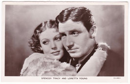Spencer Tracy and Loretta Young. Film Partners P 174