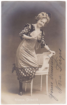 Nora Dirgis. Signed postcard