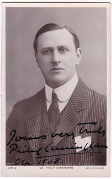 Philip Cunningham. Rotary 1232 B. Signed postcard