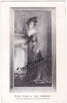 "Ethel Irving ""Lady Frederick"" Signed postcard"