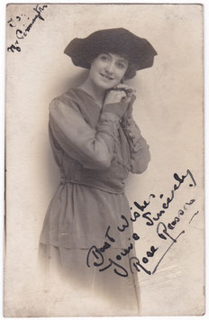 Rose Russon. Signed postcard