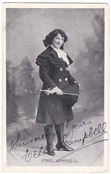Ethel Campbell. Comedienne. Signed postcard