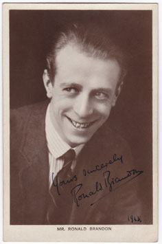 Ronald Brandon. Signed postcard