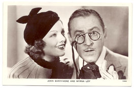 John Barrymore and Myrna Loy. Film Partners P 97