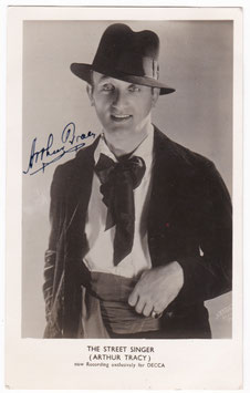 Arthur Tracy. The Street Singer. Signed postcard
