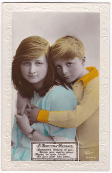Joan and John. Children of Gladys Cooper. Rotary B 591-6