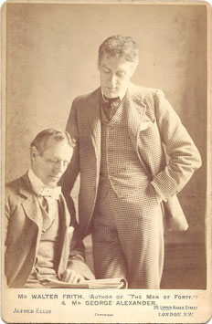 Walter Frith and George Alexander. Alfred Ellis cabinet photo