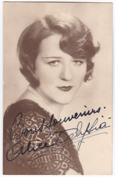 Alice Delysia. Signed postcard