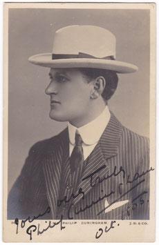 Philip Cunningham. Beagles. Signed postcard