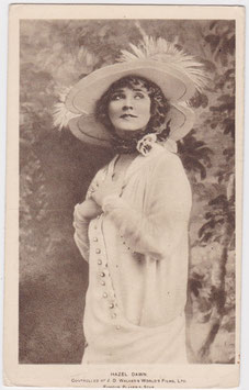 Hazel Dawn. J D Walker's World's Films postcard