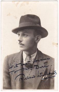 Richard Williams. Actor. Signed postcard