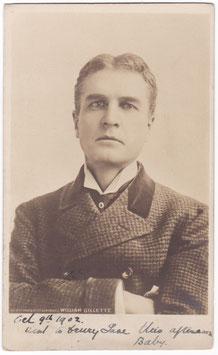 "William Gillette ""Sherlock Holmes"" Rotary postcard"