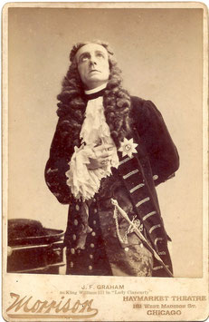 "J F Graham in ""Lady Clancarty"" Morrison cabinet photo"