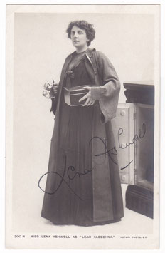 Lena Ashwell as Leah Kleschna. Rotary 200 N. Signed postcard