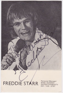 Freddie Starr. Signed publicity card