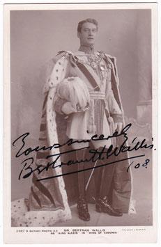 "Bertram Wallis ""The King Of Cadonia"" Rotary 2387 A.  Signed postcard"