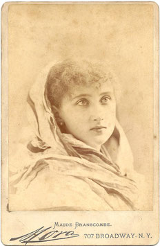 Maude Branscombe. Mora cabinet photo