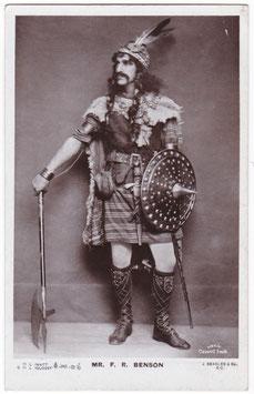 F R Benson as Macbeth. Beagles G 11 L