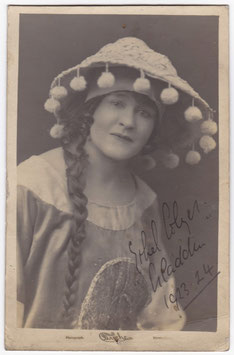 "Edith Colyer ""Aladdin"" Signed postcard"