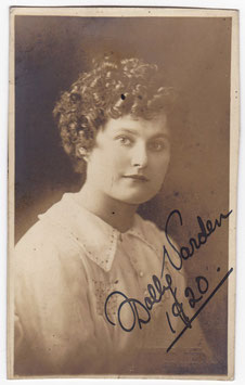 Dolly Varden. Comedienne and dancer. Signed postcard 1920