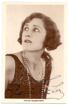 Phyllis Neilson-Terry. Signed postcard