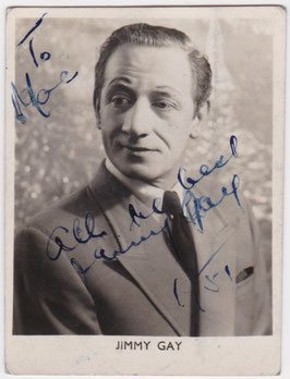 Jimmy Gay. Comedian. Signed photo