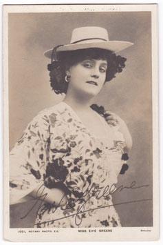 Evie Greene. Rotary 199 L. Signed postcard