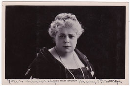 Mary Brough. Signed postcard