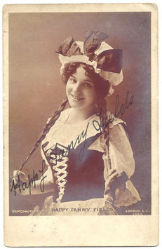 Fanny Fields. Rapid 1052. Signed postcard