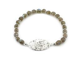 14202. Armband Labradorit & Silber 925